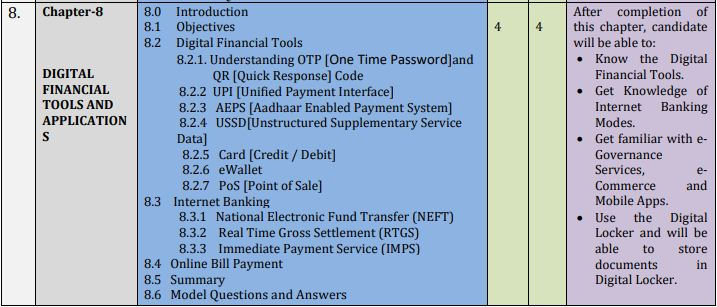 DOEACC NIELIT CCC revised Syllabus Chapter 8