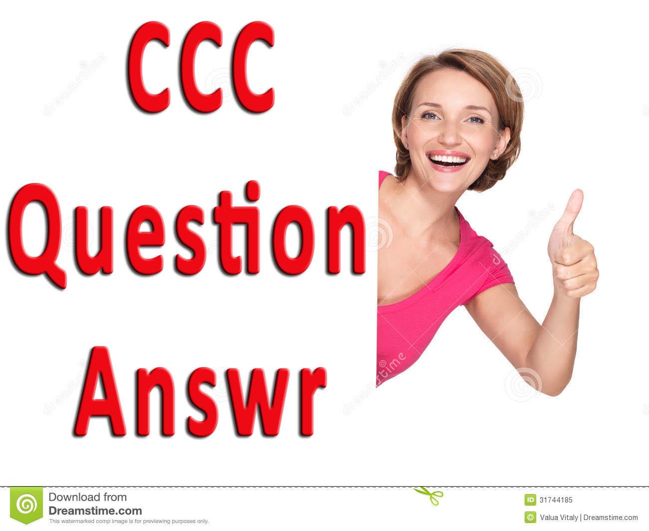 CCC Model Sample Paper