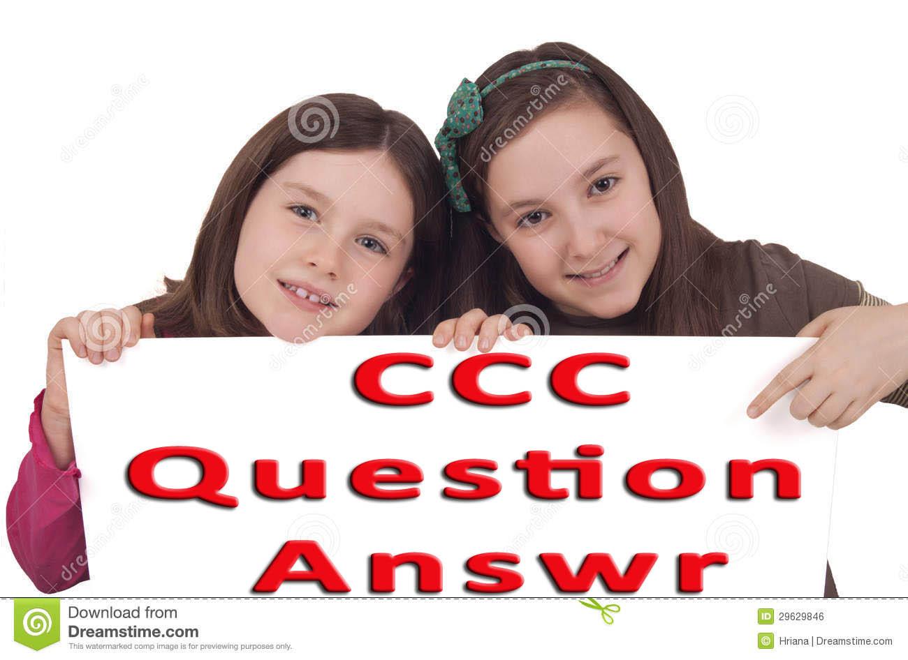 CCC Set Question Paper