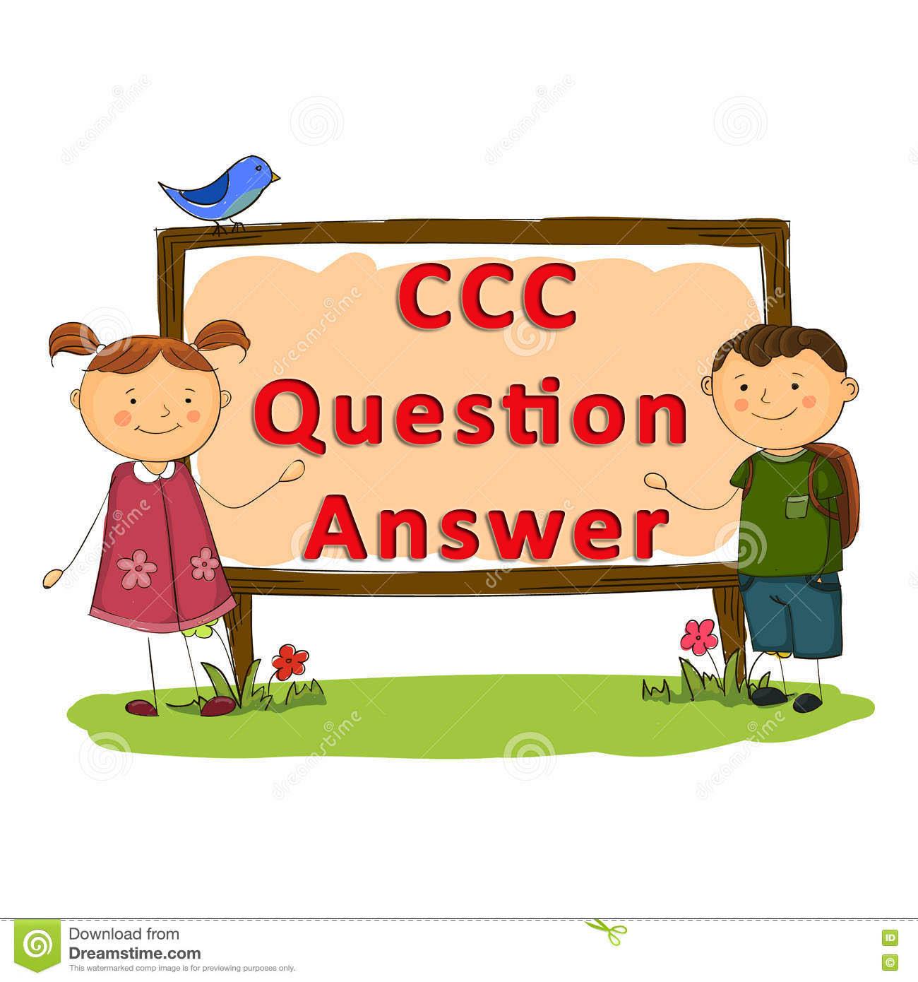 CCC Solved Sample Paper