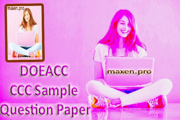 DOEACC CCC Sample Question Paper