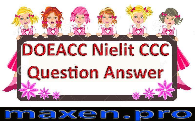 DOEACE Nielit CCC Question Answer