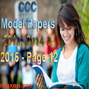 CCC Model Papers 2013, 2014 & 2015 - Page 12