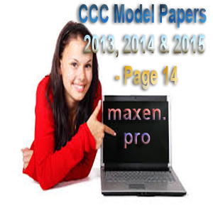 CCC Model Papers 2013, 2014 & 2015 - Page 14