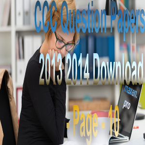 CCC Question Papers 2013 2014 Download - Page - 10