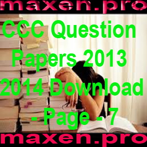 CCC Question Papers 2013 2014 Download - Page - 7