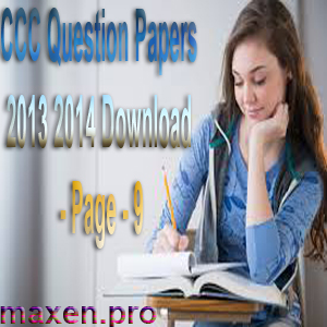 CCC Question Papers 2013 2014 Download - Page - 9