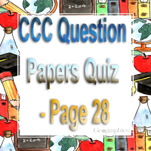 CCC Question Papers Quiz - Page 28