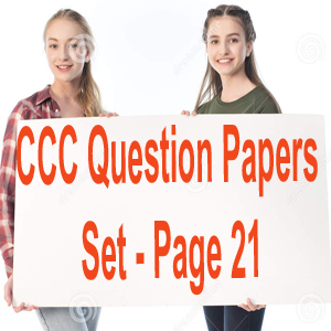 CCC Question Papers Set - Page 21