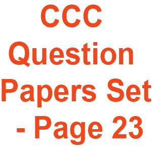 CCC Question Papers Set - Page 23