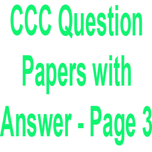 Doeacc O Level Solved Question Papers Pdf