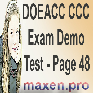 DOEACC CCC Exam Demo Test - Page 48