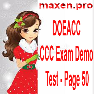 DOEACC CCC Exam Demo Test - Page 50