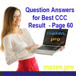 Question Answers for Best CCC Result  - Page 60