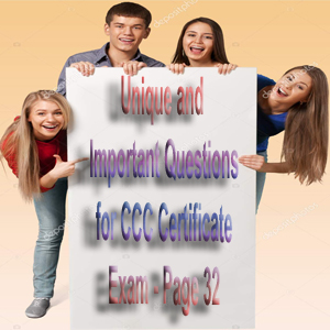 Unique and Important Questions for CCC Certificate Exam - Page 32