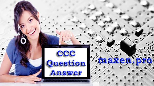 CCC Previous Year Question Paper 1 in Hindi