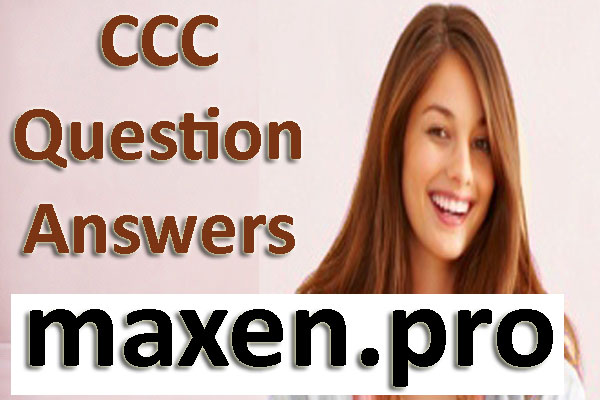CCC Study Material Download PDF in Hindi 2018