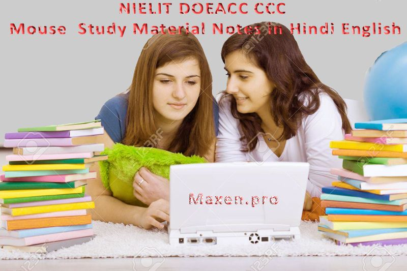 NIELIT DOEACC CCC Mouse  Study Material Notes in Hindi English