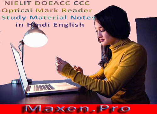 NIELIT-DOEACC-CCC-Optical-Mark-Reader-Study-Material-Notes-in-Hindi-English